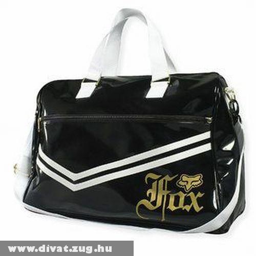 Fox fekete lakk táska