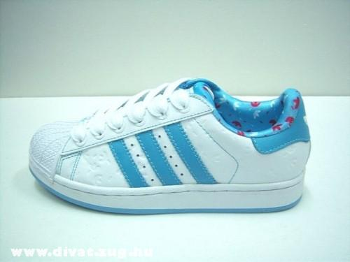 Kék-fehér Adidas cipõ