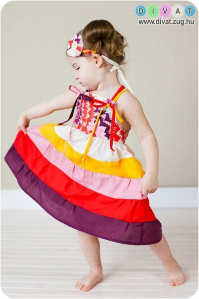 Csodás színes ruha hercegnőknek