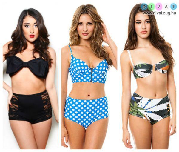 A magasított derekú bikini is nagyon népszerű idén
