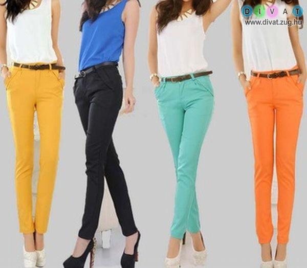 A színes nadrágok mindig feldobják a napot