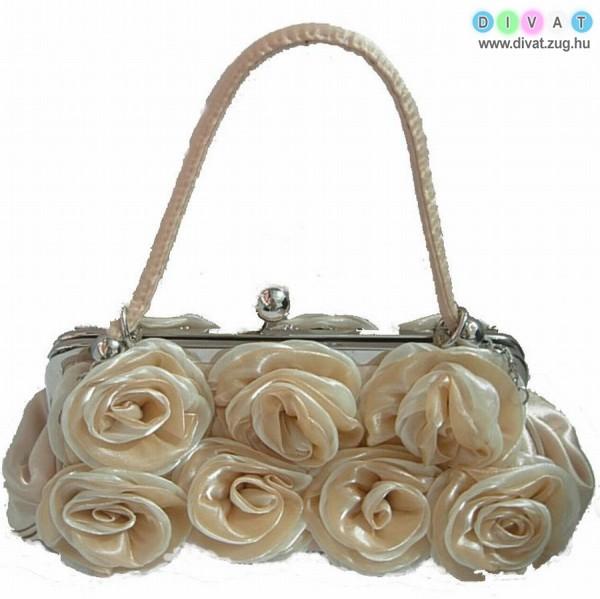 Alkalmi rózsás táska