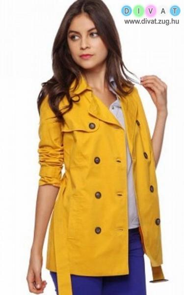 Citromsárga őszi kabát