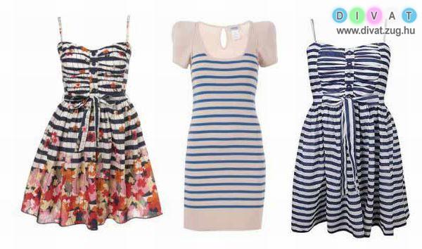 Csíkos ruhák a nyárra