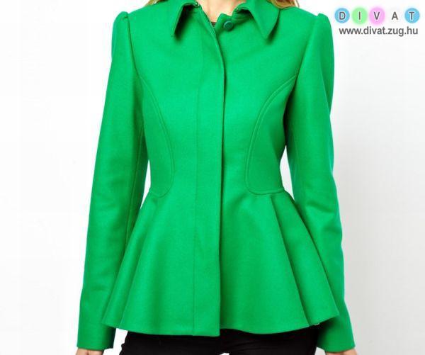 Csini zöld átmeneti kabát