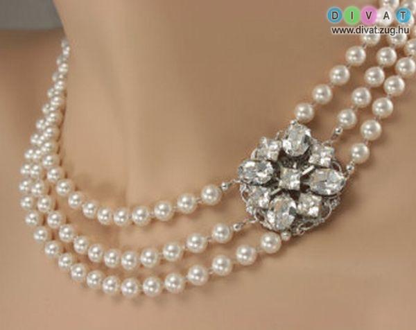 Csinos és elegáns gyöngy nyaklánc