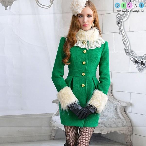 cffcb553b8 Elegáns zöld kabi · Galéria · Divat Magazin