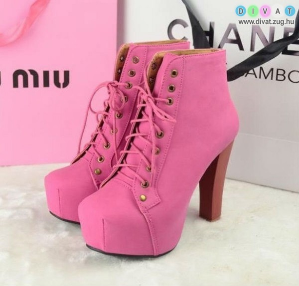 Magastalpú pink cipő