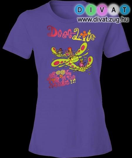 Mintás lila női póló