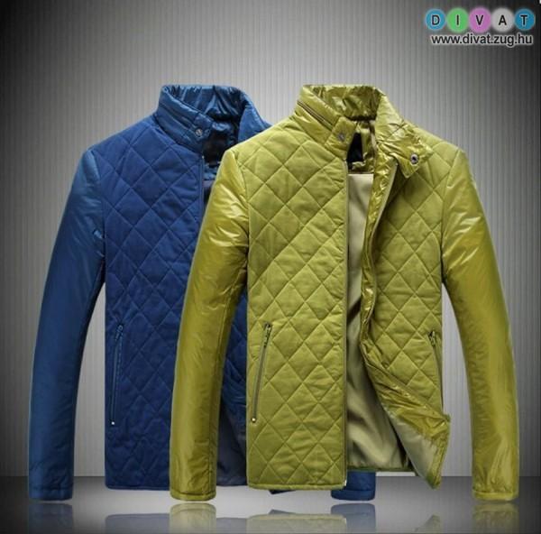 Színes őszi férfi kabát