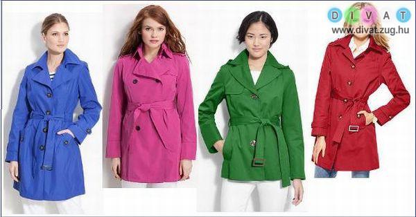 Szines tavaszi kabátok