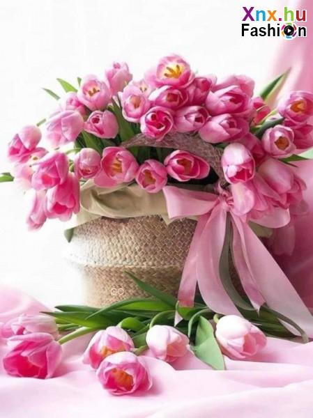 Tavasz, tulipán csokor