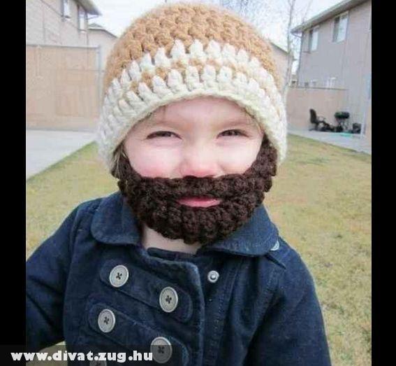 Hideg napokra fiúcska gyerekek fejmelegítõ szakáll sapkája :)