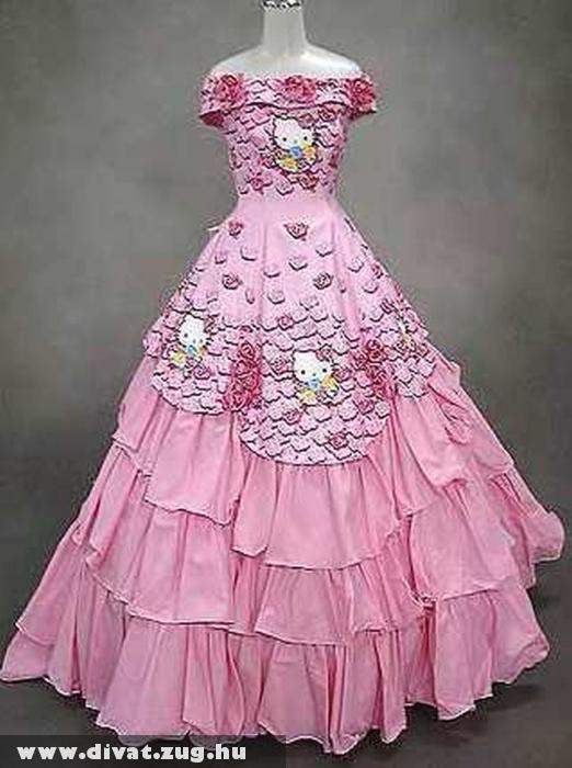 Hello Kitty-s menyasszonyi ruha