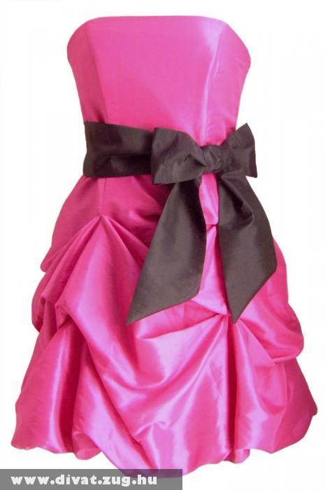 Rózsaszín koktélruha