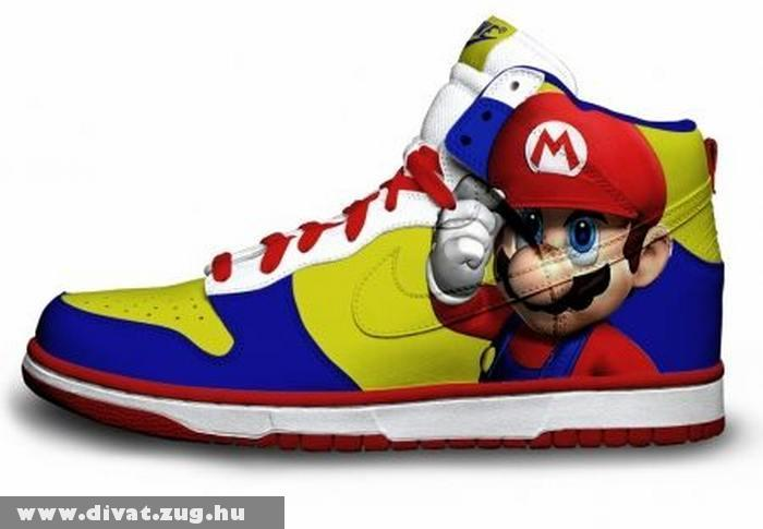 Mario mintás sport cipõ