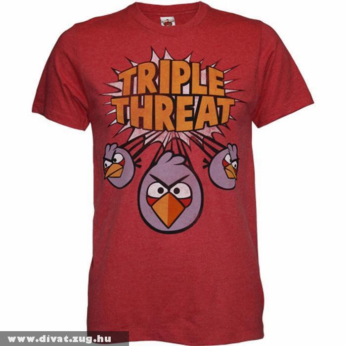 Angry Birds mintás póló