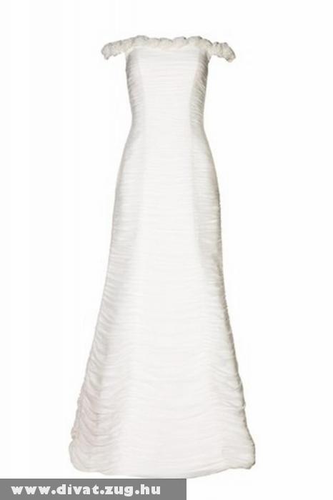 Egyszerû vonalú menyasszonyi ruha