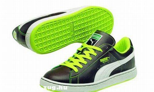 Puma zöld-fekete cipõ