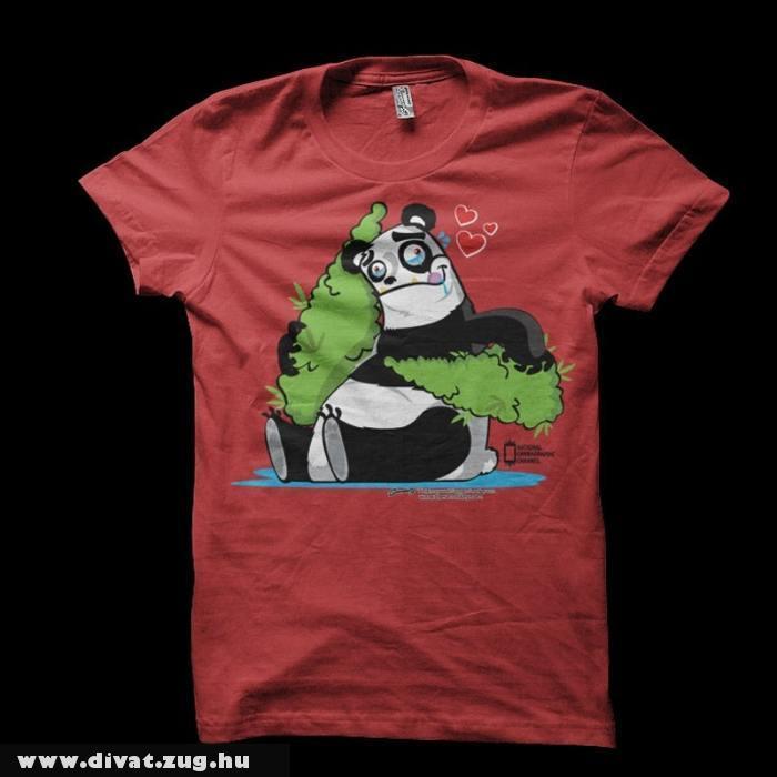 Panda mintás férfi póló