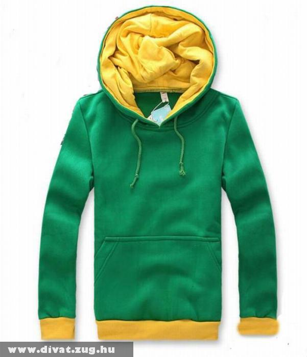 Zöld sárga férfi pulcsi