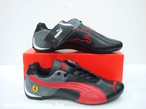 Puma fekete-piros Ferrari cipõ