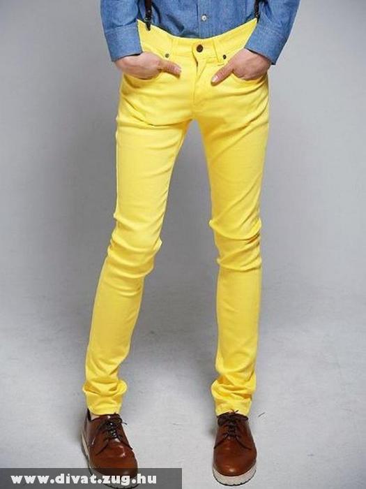Citromsárga férfi nadrág