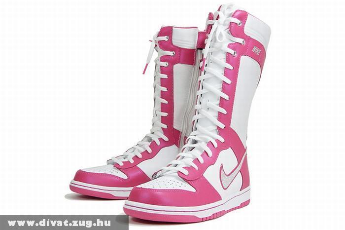 Rózsaszín fehér fûzõs csizma