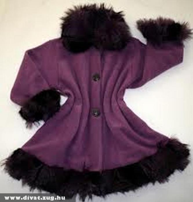Lila húzottderekú nõi kabát