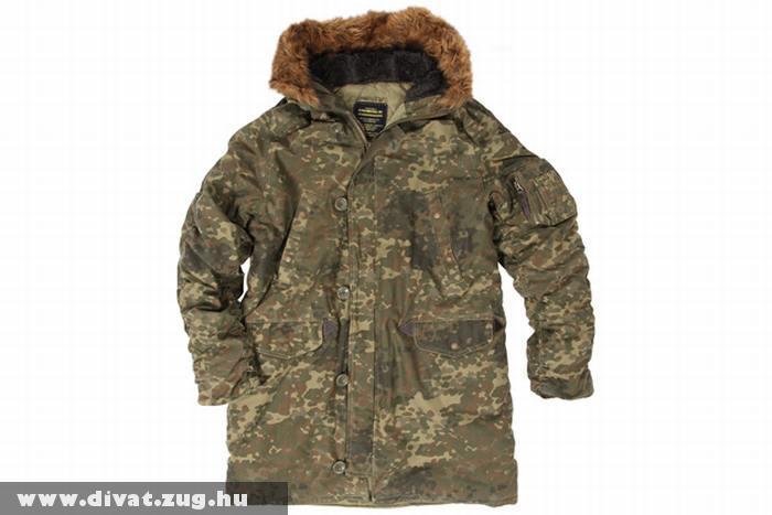 Terepmintás férfi kabát