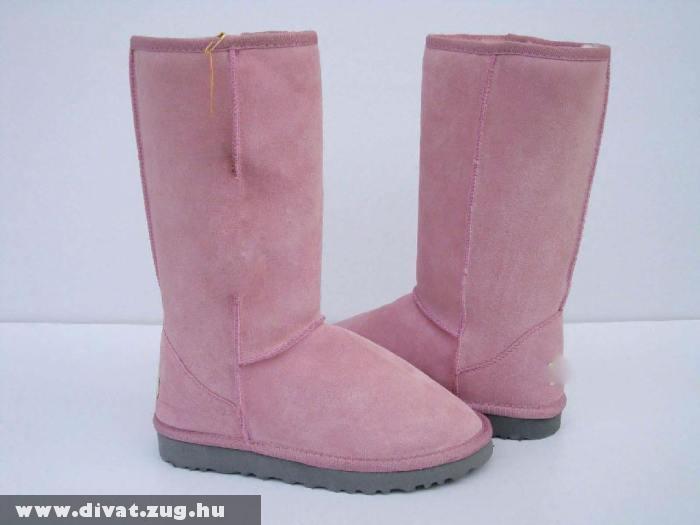 Rózsaszín téli csizma