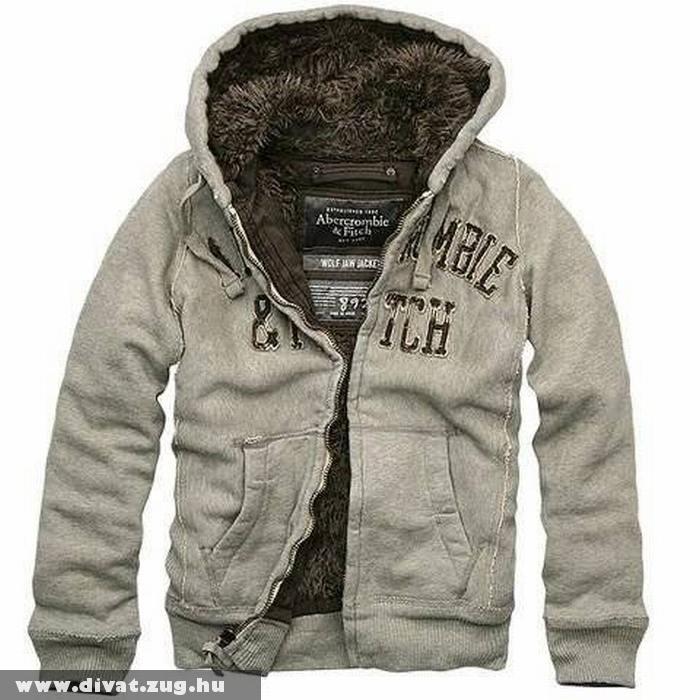 Szõrmés téli férfi pulcsi