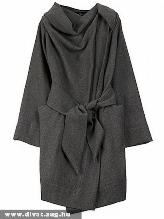Laza szürke átmeneti kabát · Galéria · Divat Magazin 17e82fa2ae