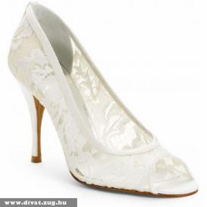 Szatén hatású esküvõi cipõ