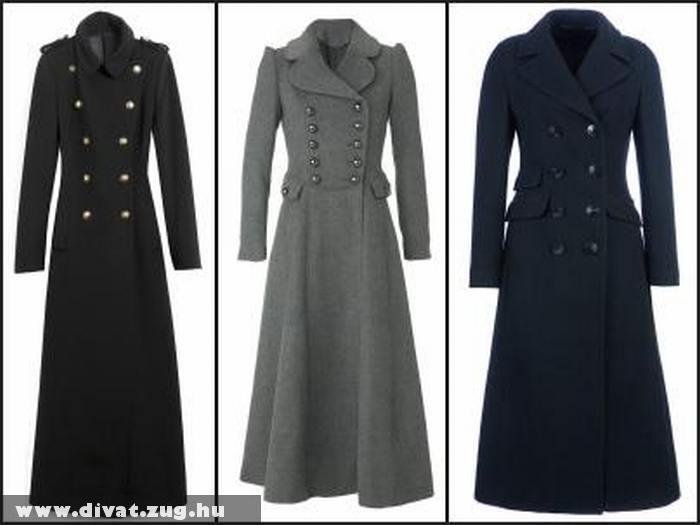 Hosszú elegáns nõi kabátok