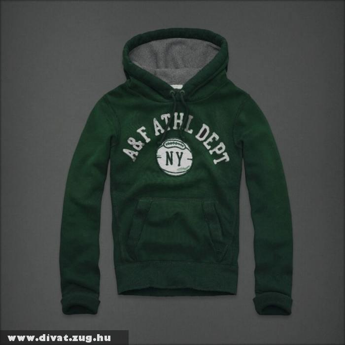 Kapucnis zöld pulóver