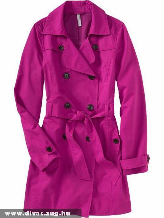 Élénk színû tavaszi kabát