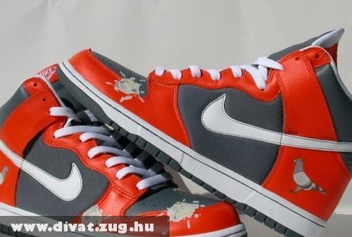 Piros-fekete Nike cipõ