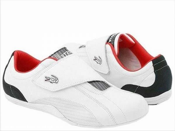 Fehér Lacoste utcai cipõ