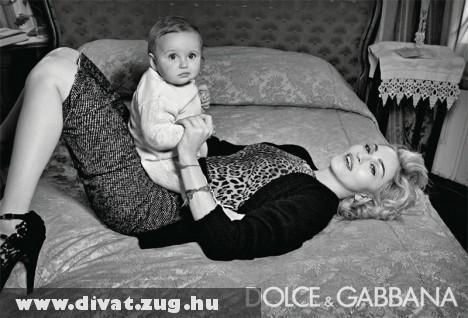 Madonna a Dolce & Gabbana új modellje