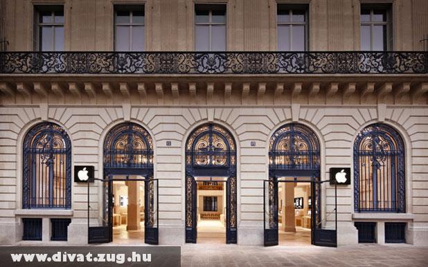 Párizs, Apple Store bejárata