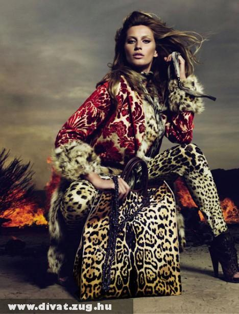 Gisele Bundchen Roberto Cavalli modellben