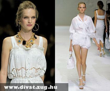 Dolce & Gabbana: Fehérben az ártatlanság megtestesítõi