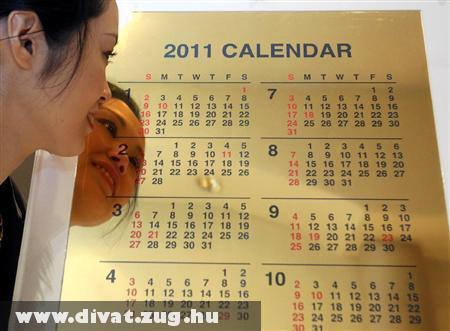 Aranyból van a legdrágább 2011-es naptár