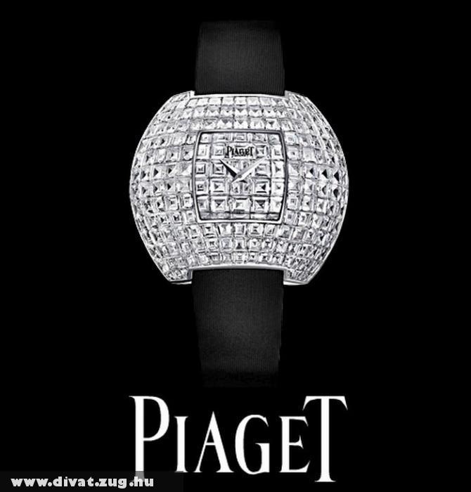 Gyémánttal kirakott Piaget luxus óra