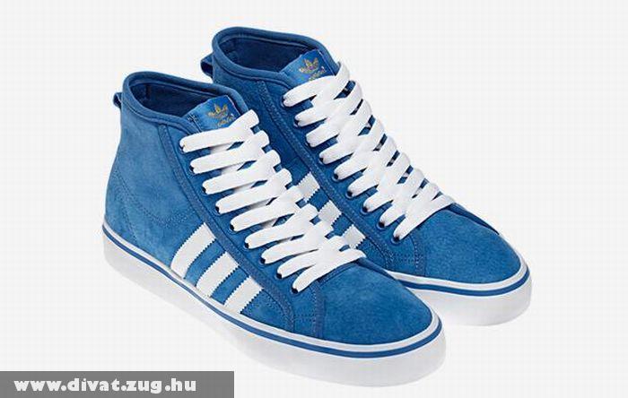 Kék magasszárú Adidas