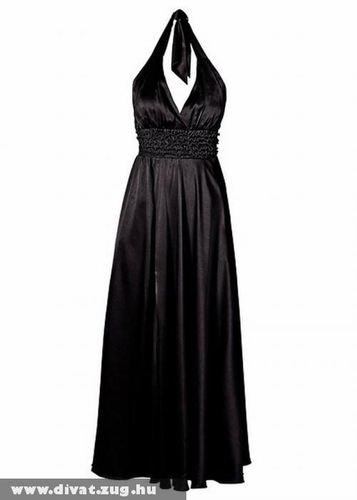 Fekete szatén ruha
