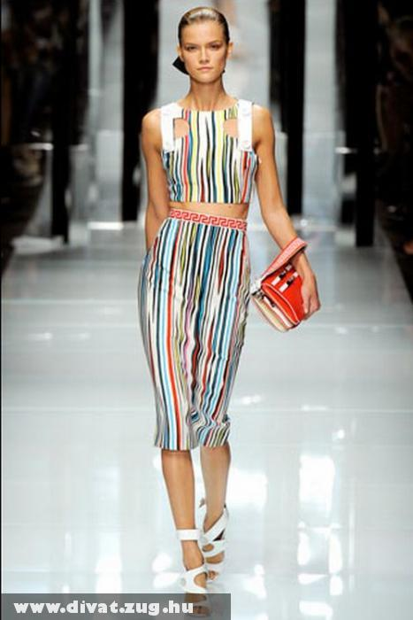 Versace csíkos ruha