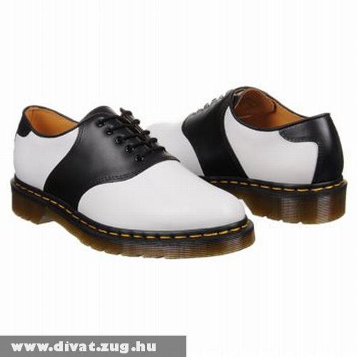 Dr. Martens fekete-fehér bõr cipõ
