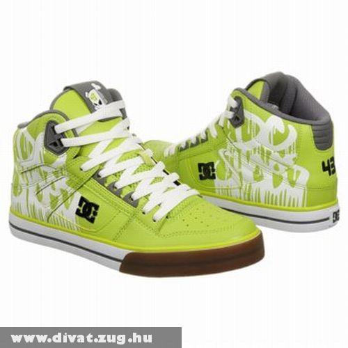 Lime-szürke DC cipõ